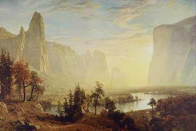 """The Yosemite Valley"", Albert Bierstadt"